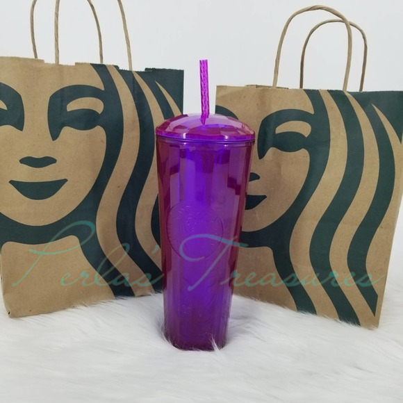 Starbucks Fall 2021 Purple Pearlescent Dome Cup